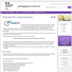 Enseigner Documentation lycée - TraAM 2015-2016 : synthèse des travaux