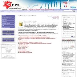 Enseigner l'EPS en SEGPA« Les enseignements... - Site EPS de l'académie de Rouen
