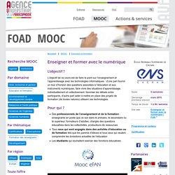MOOC Enseigner et former avec le numérique FOAD