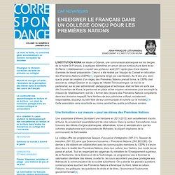 ENSEIGNER LE FRANÇAIS DANS UN COLLÈGE CONÇU POUR LES PREMIÈRES NATIONS