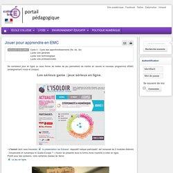 Enseigner : Histoire Géographie Ed Civique lycée - Jouer pour apprendre en EMC
