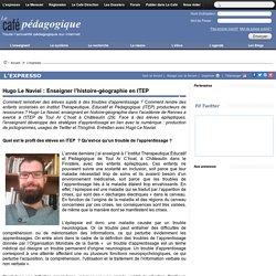 Hugo Le Naviel : Enseigner l'histoire-géographie en ITEP
