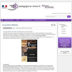 Enseigner Histoire Géographie (Hist-Géo-EC) 6e - Un procès à Athènes