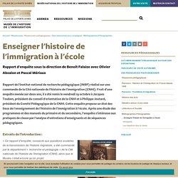 Enseigner l'histoire de l'immigration à l'école