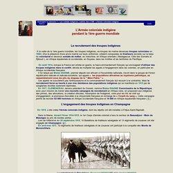 Enseigner la mémoire ? - Les soldats indigènes, oubliés des deux guerres mondiales - L'Armée coloniale indigène pendant la 1ère guerre mondiale