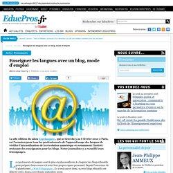 Enseigner les langues avec un blog, mode d'emploi