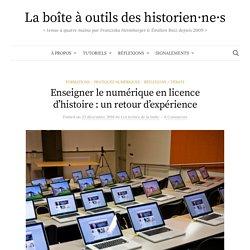 Enseigner le numérique en licence d'histoire : un retour d'expérience
