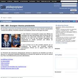 élection présidentielle_ressources pour l'EMC -SES_ Café pédagogique