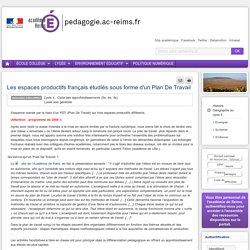 Enseigner Hist-Géo-Ed civ cycle 4 - Les espaces productifs français étudiés sous forme d'un Plan De Travail