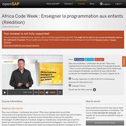 Africa Code Week : Enseigner la programmation aux enfants (Réédition) - Jérôme Monteu Nana
