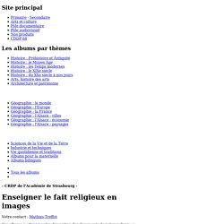 Enseigner le fait religieux en images
