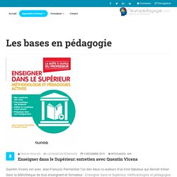 Enseigner dans le Supérieur: entretien avec Quentin Vicens