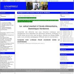 Enseigner le calcul mental à l'école par D. Verdenne - lpamphile
