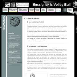 Enseigner le volley-ball - ressources
