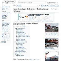 Liste d'enseignes de la grande distribution en Belgique
