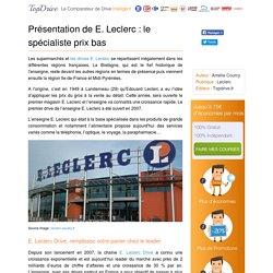 E. Leclerc : une des enseignes préférées des français