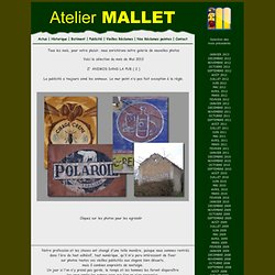 Galerie photo de murs peints, enseignes, publicités, reclames.. Selection Mars 2012