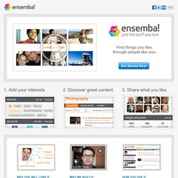 ensemba - let great content find you