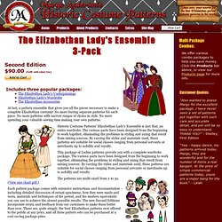 Eliz. Lady's Ensemble 3-Pack - Margo Anderson's Historic Costume Patterns