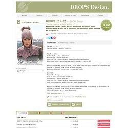Ensemble DROPS : Tour du cou boutonné, tricoté au point mousse dans le sens de la longueur, et bonnet au point mousse en «Eskimo»