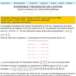Ensemble de Cantor