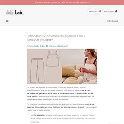 Patron bonus : ensemble de pyjama HOYA + concours Instagram