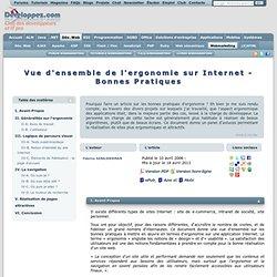 Vue d'ensemble de l'ergonomie sur Internet