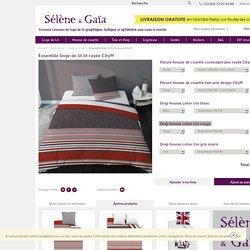Ensemble linge de lit lit rayée CityM - Linge de lit ado - Selene & Gaïa