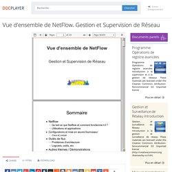 ⭐Vue d'ensemble de NetFlow. Gestion et Supervision de Réseau