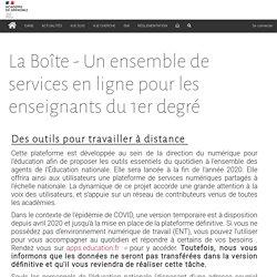 La Boîte - Un ensemble de services en ligne pour les enseignants du 1er degré