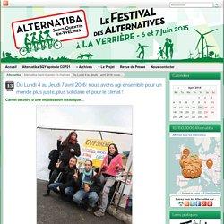 Du Lundi 4 au Jeudi 7 avril 2016: nous avons agi ensemble pour un monde plus juste, plus solidaire et pour le climat! ⁕ Alternatiba Saint-Quentin-En-Yvelines