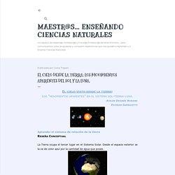 MAESTR@S... Enseñando Ciencias Naturales: El cielo desde la tierra: los movimientos aparentes del sol y la luna.