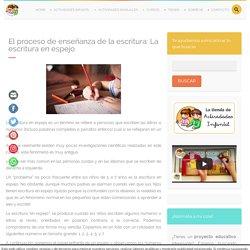 EL PROCESO DE ENSEÑANZA DE LA ESCRITURA: LA ESCRITURA EN ESPEJO » Actividades infantil