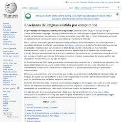 Enseñanza de lenguas asistida por computador