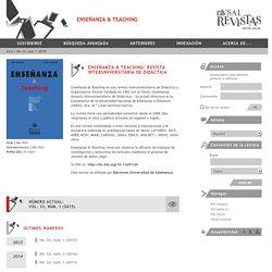 Enseñanza & Teaching: Revista Interuniversitaria de Didáctica