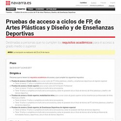 Pruebas de acceso a ciclos de FP, de Artes Plásticas y Diseño y de Enseñanzas Deportivas