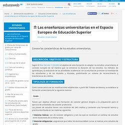Las enseñanzas universitarias en el Espacio Europeo de Educación Superior