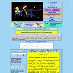 ENSI/SENSI: Evolution/Nat.of Sci.Home Page