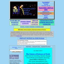ENSI/SENSI: Evolution/Nat.of Sci.Home Page