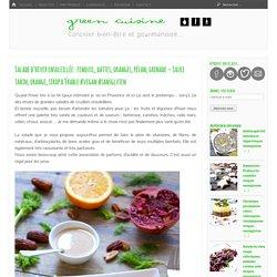 Salade d'hiver ensoleillée : fenouil, dattes, oranges, pécan, grenade – Sauce tahin, orange, sirop d'érable #vegan #sansgluten