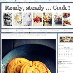 Sablés ensoleillés {farine de maïs, parmesan, curcuma, cumin & fleur de sel} - Ready, steady... Cook !