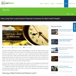 Long Term Loans for Bad Credit from Direct Lenders