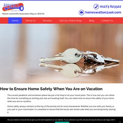 How to Ensure Home Safety When You Are on Vacation