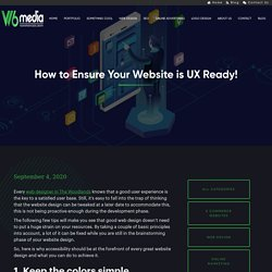 How to Ensure Your Website is UX Ready! Web Design
