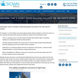 Fire Safety Compliance By Sydney Strata Management Company