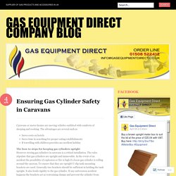 Ensuring Gas Cylinder Safety in Caravans