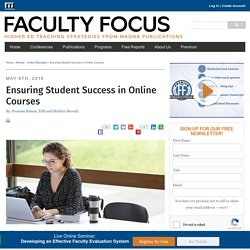 Ensuring Student Success in Online Courses