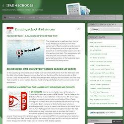 Ensuring school iPad success