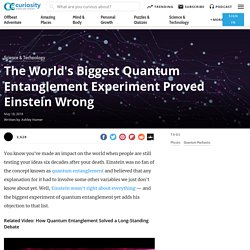 The World's Biggest Quantum Entanglement Experiment Proved Einstein Wrong