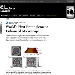 World's First Entanglement-Enhanced Microscope